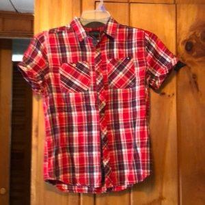 Lucky Brand Button Up Short Sleeve Shirt